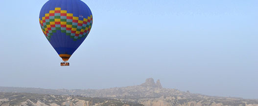 Take a ride in a hot air balloon while you're travelling