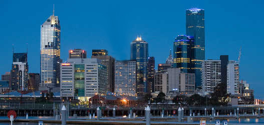 Melbournes docklands at twilight offers an awesome scenic view