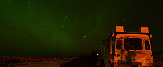 Northern Lights from a Jeep