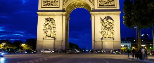 Sacre Coer,Paris Arc de Triomphe