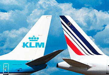Flight with Air France and KLM