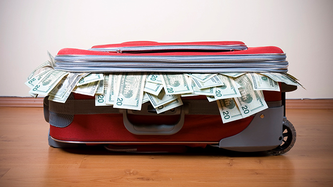 Cash in Suitcase