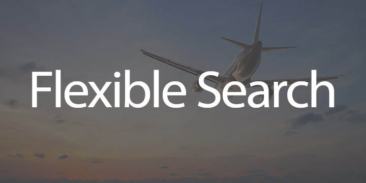 Flights by StudentUniverse mobile app features Flexible Search