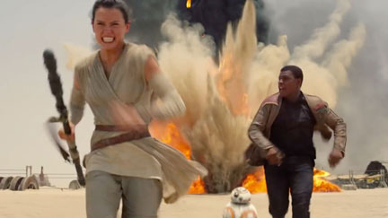 Finn and Rey Star Wars